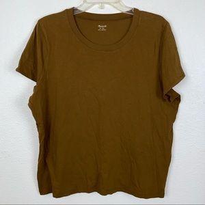 Madewell Brown T Shirt Basic Tee XL